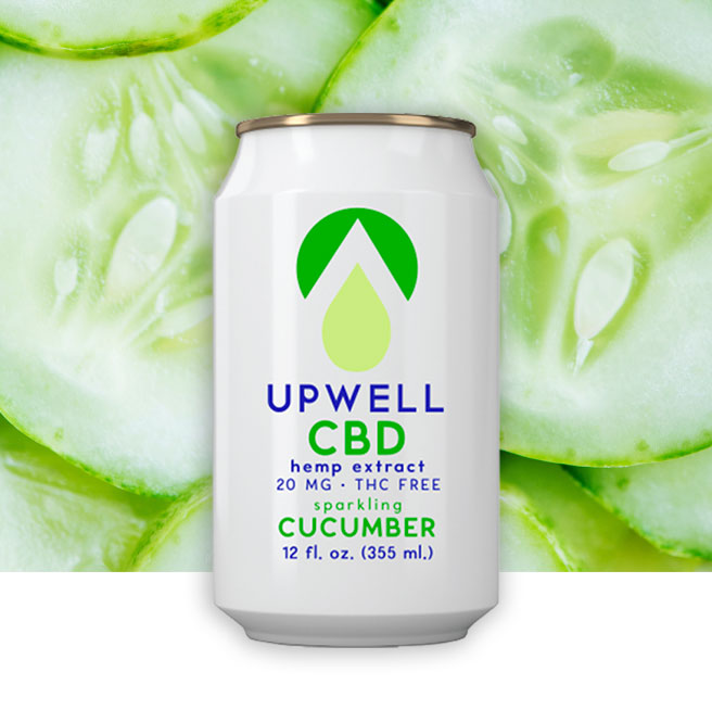 upwell cucumber cbd water