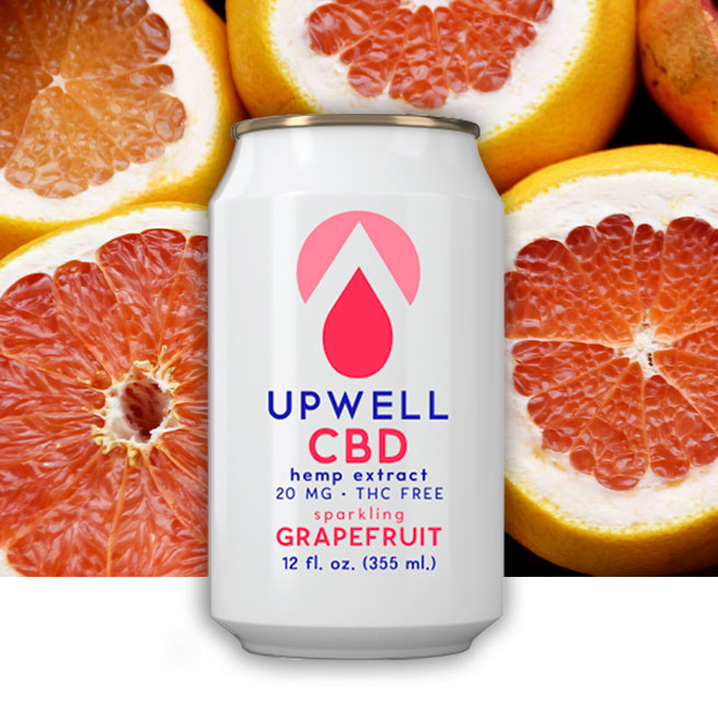 upwell grapefruit cbd water