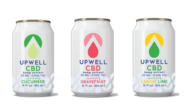 upwell flavored cbd water