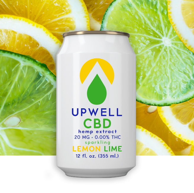 upwell lemon lime cbd water