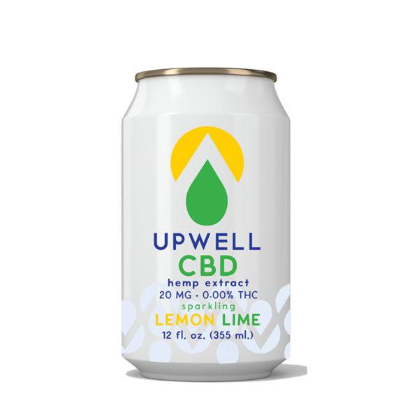 upwell beverages lemon lime cbd water